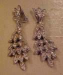 Dangling Weiss rhinestone earrings