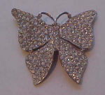 Huge rhinestone butterfly pin