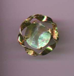 Sandor goldtone pin with abalone shell