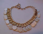 Festoon style necklace and earrings