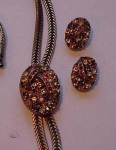Selini rhinestone necklace and earrings