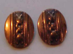 Whiting & Davis Copper earrings