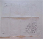 Handkerchief with raised flower design