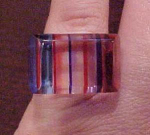 striped lucite ring