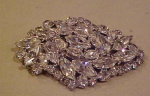 Large clear rhinestone pins