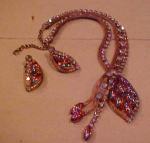 Necklace & Earring set w/rhinestones