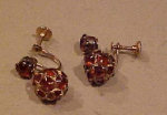 Topaz dangling rhondelle rhinestone earrings