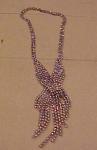 Fringe style rhinestone necklace