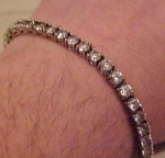 Sterling tennis bracelet with rhinestones