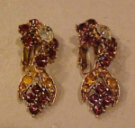 Florenza rhinestone flower earrings