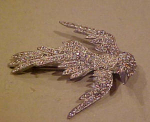 Fabulous Pot Metal & Rhinestone Bird Pin