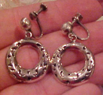 Sterling silver earrings signed DAK