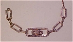 Czech bracelet with rhinestones