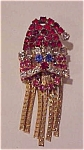 Click here to enlarge image and see more about item f6021: Rhinestone Santa Claus pin
