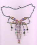 handbeaded and crocheted necklace