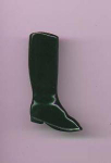 Black bakelite riding boot pin