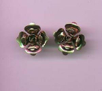 Sterling vermeil flower earrings