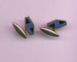 enameled cufflinks