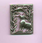 Sterling Silver Norseland by Coro dog and bird pin