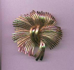Trifari large goldtone pin with starburst design