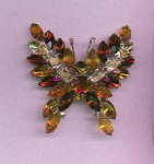 Click here to enlarge image and see more about item f852: KJL rhinestone butterfly pin