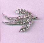 Corocraft rhinestone bird pin