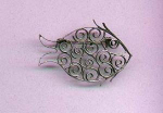 Mexican silver fish pin