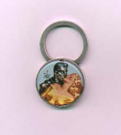 Click here to enlarge image and see more about item f926: Pin up space age keyring