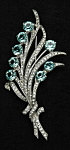 Click here to enlarge image and see more about item f961-1222474992: Reja floral brooch