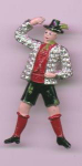 Click here to enlarge image and see more about item f979: Swiss enamel and rhinestone man dress clip