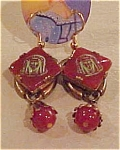 Click here to enlarge image and see more about item ga982e: Czechoslovakian Egyptian revival earrings