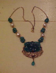 Czechoslovakian molded glass necklace