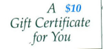 Click here to enlarge image and see more about item gc10: $10 Gift Certificate