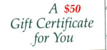 Click here to enlarge image and see more about item gc50: $50 Gift Certificate