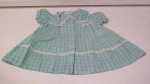 Click here to enlarge image and see more about item hwc303: Vintage child's dress with flower and lace trim