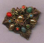 Click here to enlarge image and see more about item j480: Czechoslovakian Dress Clip