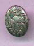Art Nouveau sterling pin with floral engraving