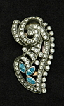 Click here to enlarge image and see more about item l314: Art deco dress clip