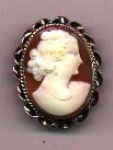 Click here to enlarge image and see more about item l491: 1940's shell cameo