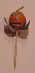 Click here to enlarge image and see more about item ljack: 1940's Halloween jack o'lantern toothpick