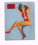 Click here to enlarge image and see more about item pc114: Earl Moran pin-up card - The Open Season