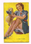 Click here to enlarge image and see more about item pc134: Elvgren mutoscope card - A Peek-A-Knees