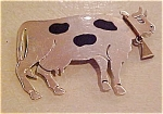 Sterling silver cow pin
