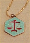Libra enameled pendant - norway