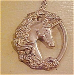 Click to view larger image of Gorham Sterling Unicorn Pendant (Image1)