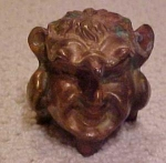 Click here to enlarge image and see more about item x109: Art nouveau gargoyle inkwell