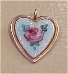 enameled heart charm