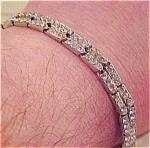 Trifari rhinestone bracelet