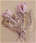 Floral pin with marcasites