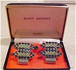 Marc Anthony rhinestone cufflinks & stud